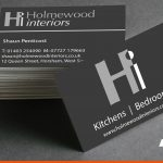 Printed business cards for local interior business | Promotional stationery