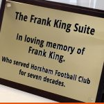 Frank King Suite Plaque | Horsham Football Club