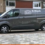 White Graphics on Grey Van for K.Black