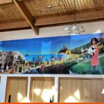 Large printed mural for local church
