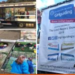 Large printed panels for the Girlguides float the the Lord Mayor's Show