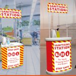 Branded Sanitising Station | Covid19 Safety Signage