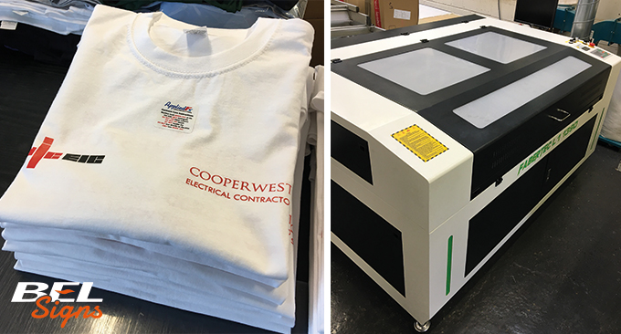Laser Cutter and T-Shirt branding