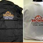 Embroidery for workwear   Carpentry   Horsham