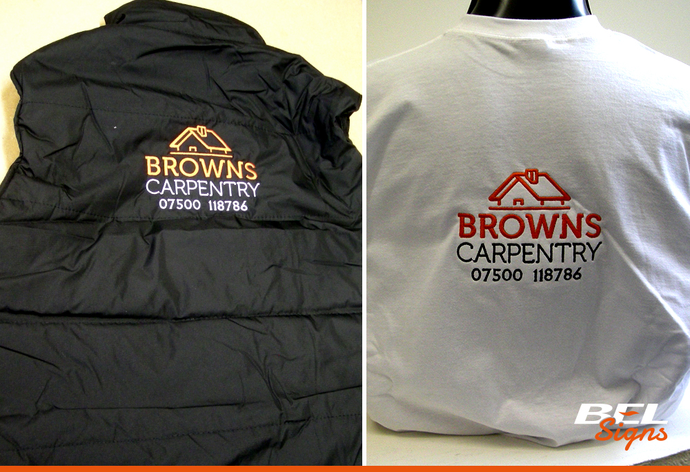 Embroidery for workwear | Carpentry | Horsham