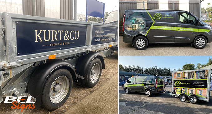 Trailer wraps and trailer panels
