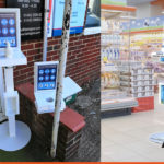 Free standing Sanitiser Stations