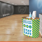 Sanitiser Station Counter with wrap print