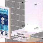 Wall Mounted option Sanitiser Station
