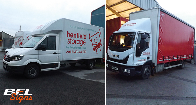 Vehicle graphics for Henfield Hire
