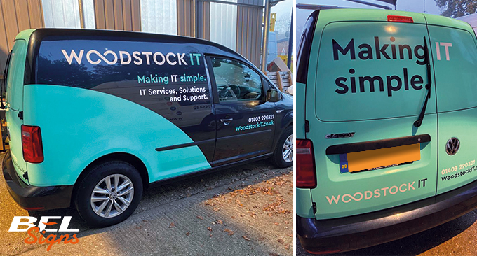 Van wrap and rebrand