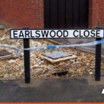 Street Name Plate with Dead End Signage