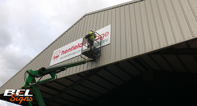 Installtion of Signage at Horsham Branch by BEL Signs
