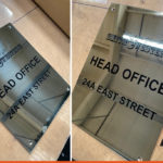 Mirror Plaque infilled with black for Smith & Western
