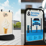 Swinger pavement signs from BEL Signs