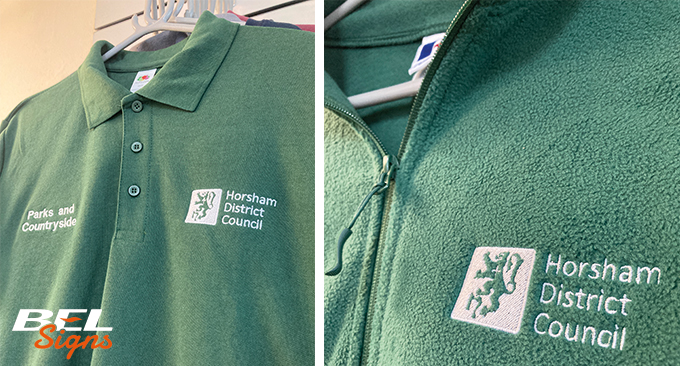 Embroidery for Horsham District Council