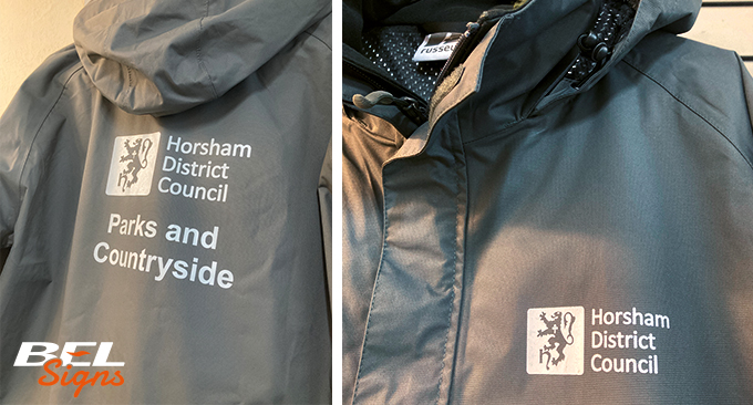 Russell jackets with HDC logo and details | Workwear