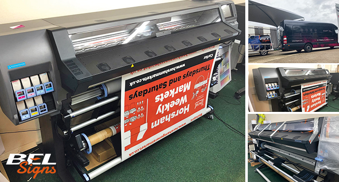 BEL Signs takes delivery and uses new HP Latex Printer for HDC job