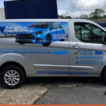 Ashington Motors Van Signwriting by BEL Signs