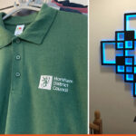 Embroidery for Horsham District Council   Bespoke 3D signage   BEL Signs