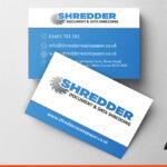 Business cards for Shredder Waste paper | BEL Signs