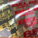 Foil Dry Transfers of the BEL Signs logo