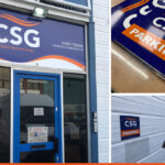 Exterior signage for Classic Services Group Horsham
