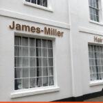 James Miller Hair lettering for exterior signage | Horsham Shop Signs