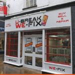 U-Break We-Fix shop sign and 3D projecting sign | BEL Signs