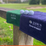 Embroidery onto Golf towels for gaws of London