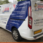 Specialist Leak Detection on a Transit Connect | BEL Signs